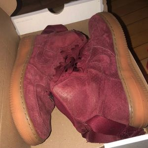Nike Air Force one suede high tops